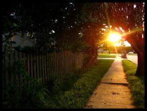 suburban-sunset